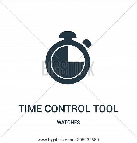 poster of time control tool icon isolated on white background from watches collection. time control tool icon trendy and modern time control tool symbol for logo, web, app, UI. time control tool icon simple sign. time control tool icon flat vector illustration for