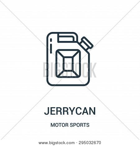 Jerrycan Icon Isolated On White Background From Motor Sports Collection. Jerrycan Icon Trendy And Mo