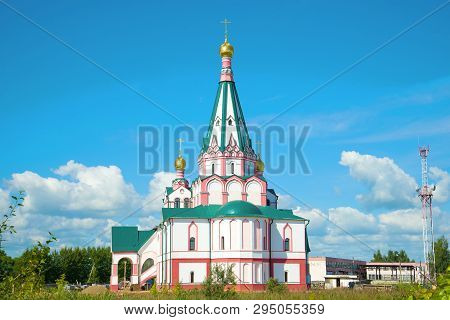 Temple Of The Icon Of The Mother Of God Sovereign On A Sunny July Day. Rostov The Great, Golden Ring