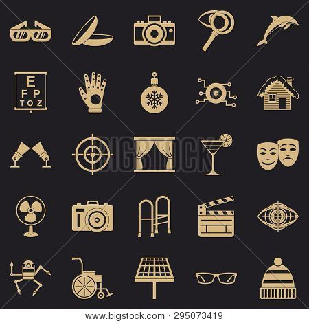 Specs Icons Set. Simple Set Of 25 Specs Vector Icons For Web For Any Design