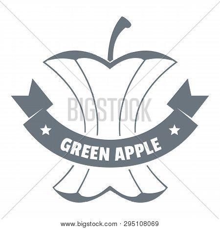 Apple Stump Logo. Vintage Illustration Of Apple Stump Logo For Web