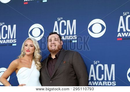 LAS VEGAS - APR 7:  Nicole Hocking, Luke Combs at the 54th Academy of Country Music Awards at the MGM Grand Garden Arena on April 7, 2019 in Las Vegas, NV