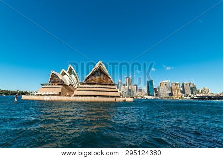 Sydney, Australia - July, 23, 2016: View Of Circular Quay With Sydney Opera House And Sydney Cbd On