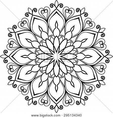 Black Mandala. Snowflake. Sacred Geometry Pinterest. Big Flower