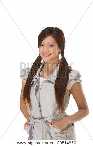 Friendly Asian High school girl student