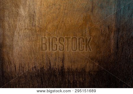 old obsolete plywood sheet closeup surface texture poster