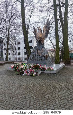 Sopot, Poland - February 25, 2019: Monument Of Home Army In Park Of Polish National Heroine Inka.