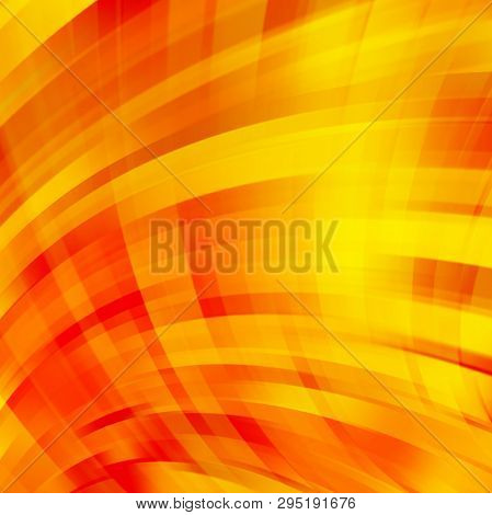 Smooth Light Lines Background. Orange, Yellow Colors. Vector Illustration.