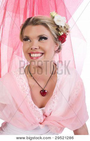 Chica linda de San Valentín
