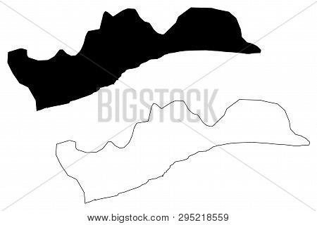 Greater Accra Region (administrative Divisions Of Ghana, Republic Of Ghana) Map Vector Illustration,
