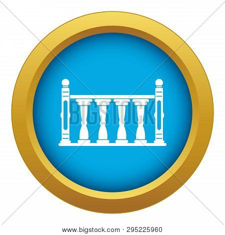 Balustrade Icon Blue Vector Isolated On White Background For Any Design