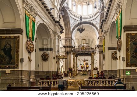 Guatemala City,guatemala - March 2,2019 - View At The Choir Of Metropolitan Cathedral In Guatemala C