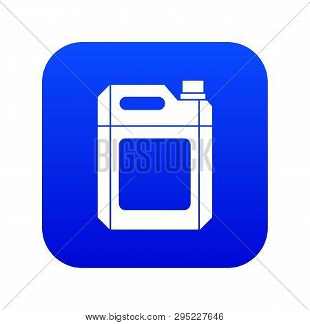 Plastic Jerry Can Icon Digital Blue For Any Design Isolated On White Vector Illustration