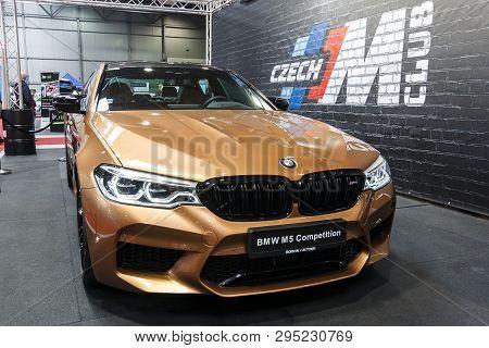 Prague, Czech Republic - April 13th 2019: Bmw M5 At Autoshow Pva Expo Praha Letnany 2019.
