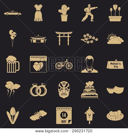 Floret Icons Set. Simple Set Of 25 Floret Vector Icons For Web For Any Design