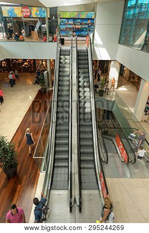 Barcelona, Spain - Jun 9, 2014: Interior Of The Maremagnum Or Mare Magnum, Large Shopping Mall With