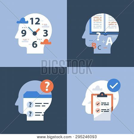 Fast Education Concept, Exam Preparation, Pass Test, Review Knowledge, Time To Learn, Vector Icon, F