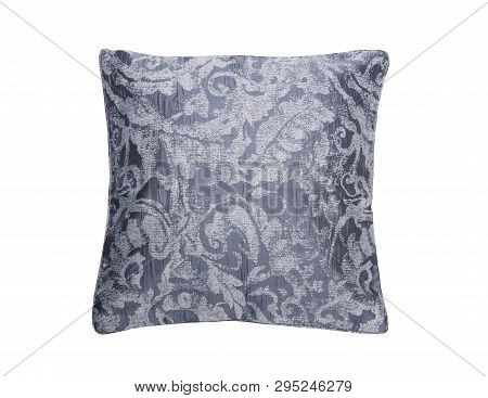 Jacquard Ornamental Pattern Pillow Isolated On White Background