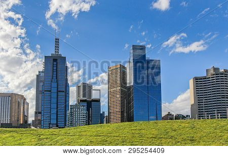 Melbourne Central Business District Skyscrapers, Victoria, Australia
