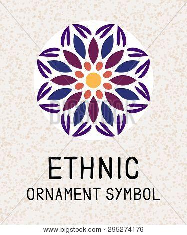 Mandala Geometric Mosaic. Logo Templates For Spa And Yoga Center. Indian Antistress Medallion. Relax