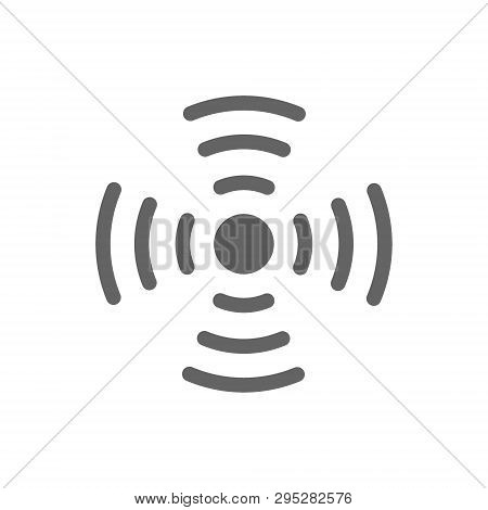 Antena Wifi Line Icon. Isolated On White Background