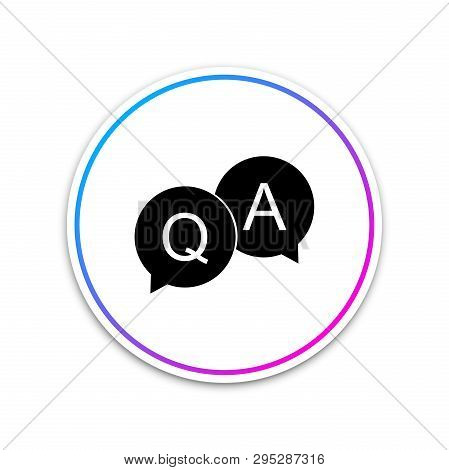 Question And Answer Mark In Speech Bubble Icon Isolated On White Background. Q And A Symbol. Circle