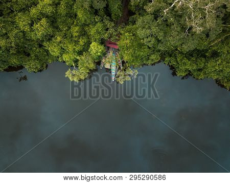 Amazonian Jungle And A Lake Seconds Before The Rain
