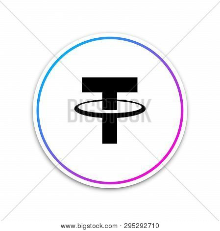 Cryptocurrency Coin Tether Usdt Icon On White Background. Physical Bit Coin. Digital Currency. Altco