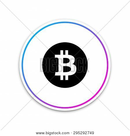 Cryptocurrency Coin Bitcoin Icon On White Background. Bitcoin For Internet Money. Physical Bit Coin.