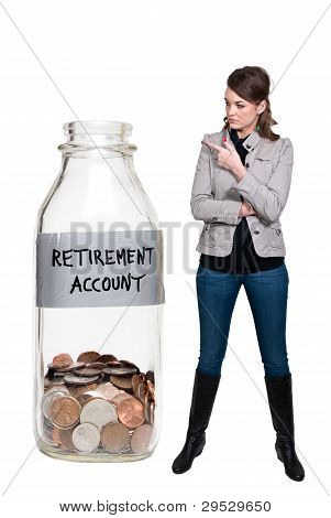 Woman Holding Her Retirement Account
