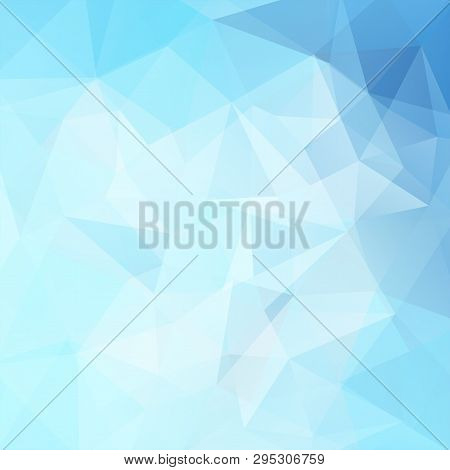 Pastel Blue Polygonal Vector Background. Can Be Used In Cover Design, Book Design, Website Backgroun