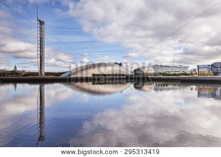 19 September 2015: Glasgow, Scotland - The Glasgow Tower, The Science Centre, The Imax Cinema And Bb