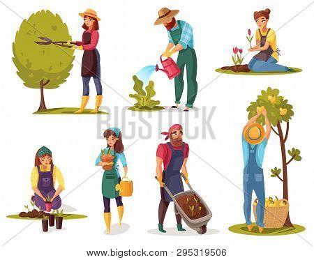 Gardening Cartoon Set Vector Photo Free Trial Bigstock