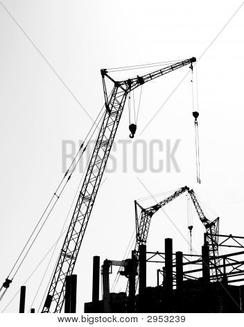 Silhouette Of The Construction