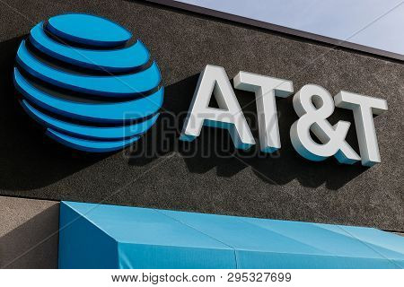 St. Marys - Circa April 2019: At&t Retail Cell Phone And Mobility Store. At&t Wrapped Up Its Merger