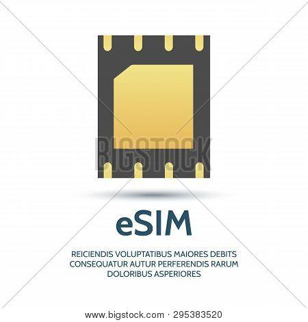 Embedded Sim. Electronics Telecommunication Cellphone Esim Chip, New Gsm Phone Mobile Network Simcar