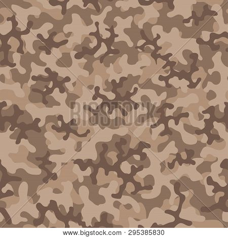 Camouflage Pattern. Seamless. Military Background. Soldier Camouflage. Abstract Seamless Pattern For