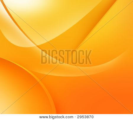 Liquid Background Of Orange And Yellow Shapes