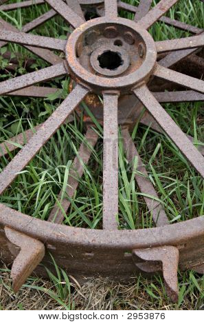 Antique Metal Tractor Tires Ii