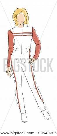 Very cute vector hand drawn Fashion illustration poster