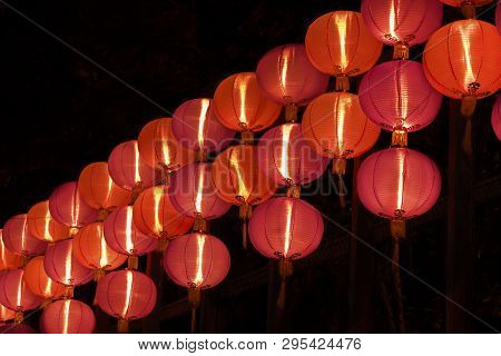 Red Chinese Lantern For Mid Autumn Festival