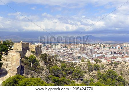 Aerial View Of The Northern Part Of The City Of Alicante, In Spain.
