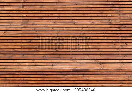Wood Slats Timber Wall Varnished As Background