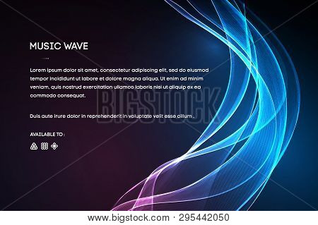 Sound Wave Vector . Vector Music Voice Vibration, Song Waveform Digital Spectrum, Audio Pulse And Wa