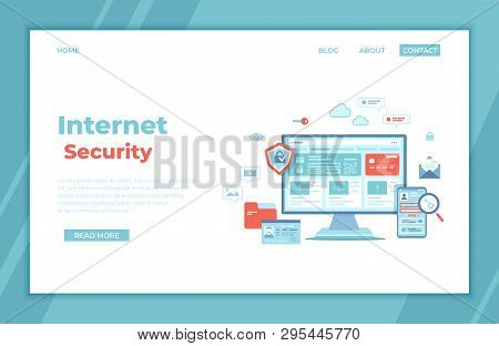 Internet Security. User S Personal Data Protection, Safety Confidentiality, Safe Network. Monitor An