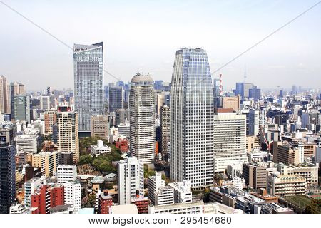 Aerial view on Tokyo, Japan. View from Tokyo Tower