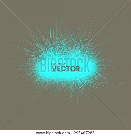 3d Abstract Vector Element With Prickles. Futuristic Technology Style. Can Be Used For Presentations