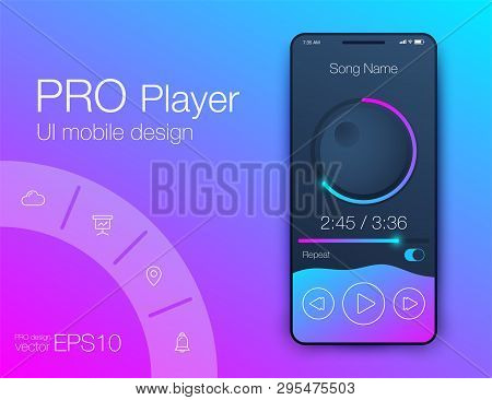 Ux Audio Player Templates. Stock Vector Eps10