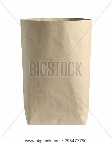 Brown Bag Paper Classic (with Clipping Path) Isolated On White Background