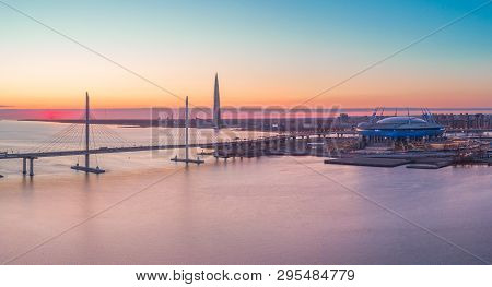 The Cable-stayed Bridge Is The Western High-speed Diameter, And The Tallest Skyscraper In Europe - L
